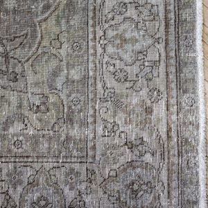 Vintage Turkish Rug in Blue Brown and Gray
