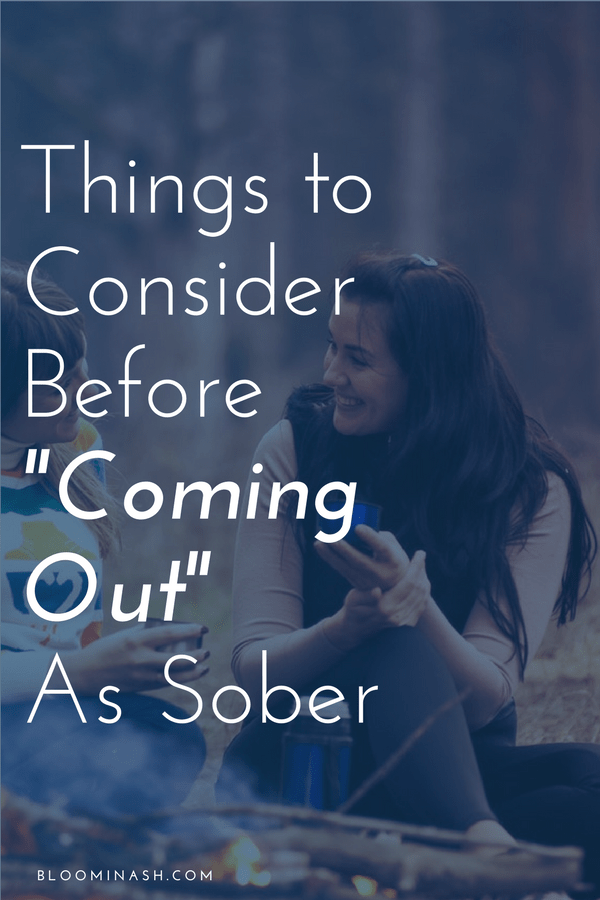 coming out as sober telling others about sobriety getting sober early sobriety friends talking together