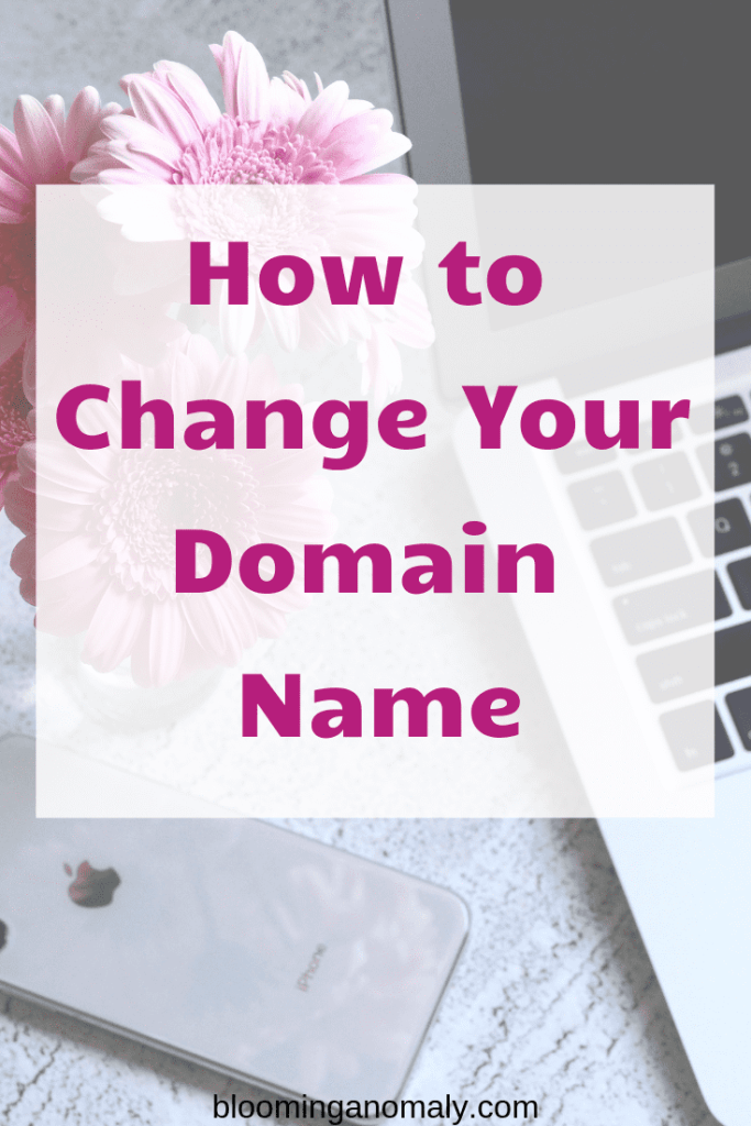 how to change your domain name