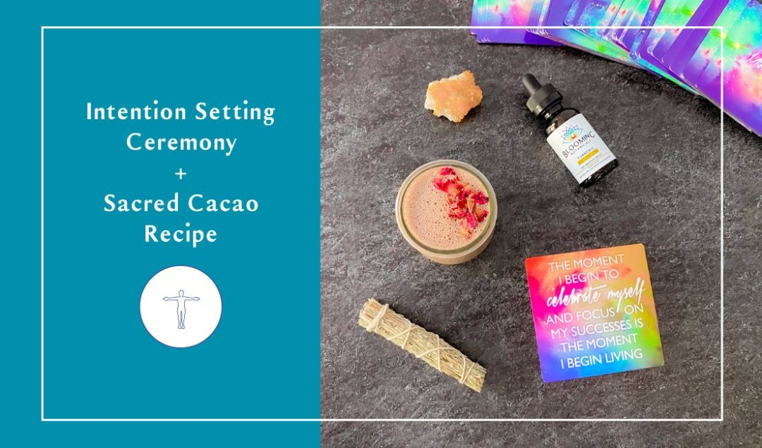 Cacao Intention setting ceremony.