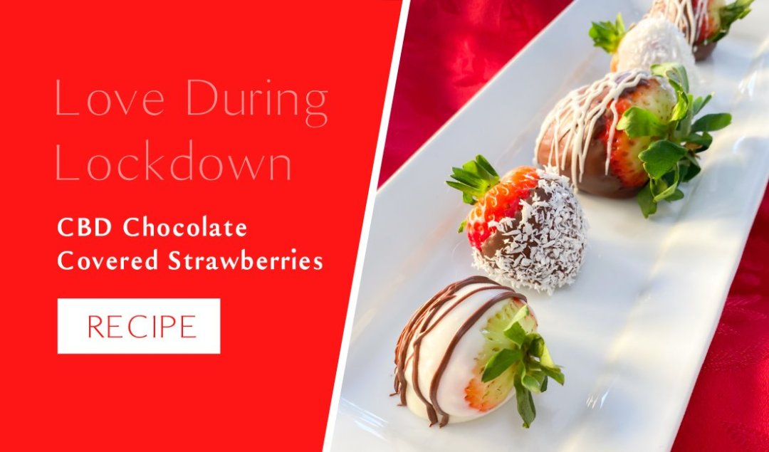 Blooming Botanicals Hemp CBD Chocolate Covered Strawberries Recipe for Love during Lockdown this Valentine's Day