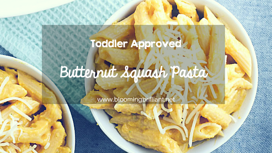 Looking for a toddler approved meal for lunch or dinner? You can not go wrong with this delicious butternut squash pasta