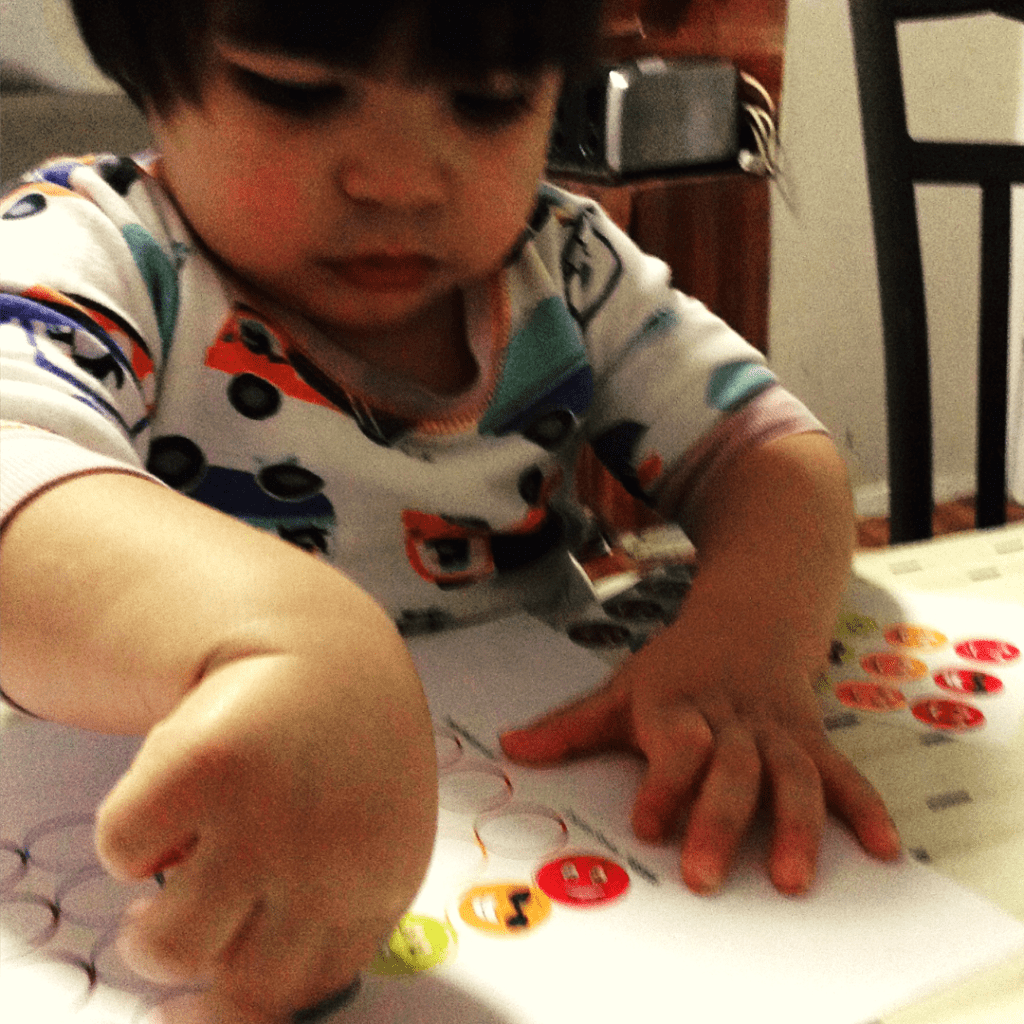 Easy Fine Motor Activity with Stickers for Preschoolers