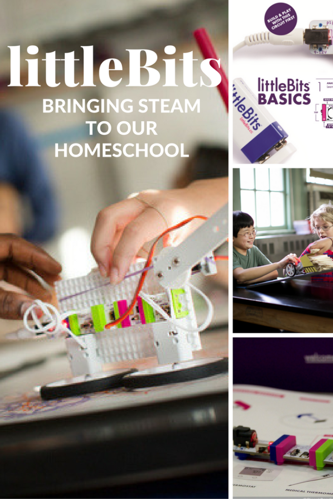 littleBits bringing STEAM to your homeschool or classroom.