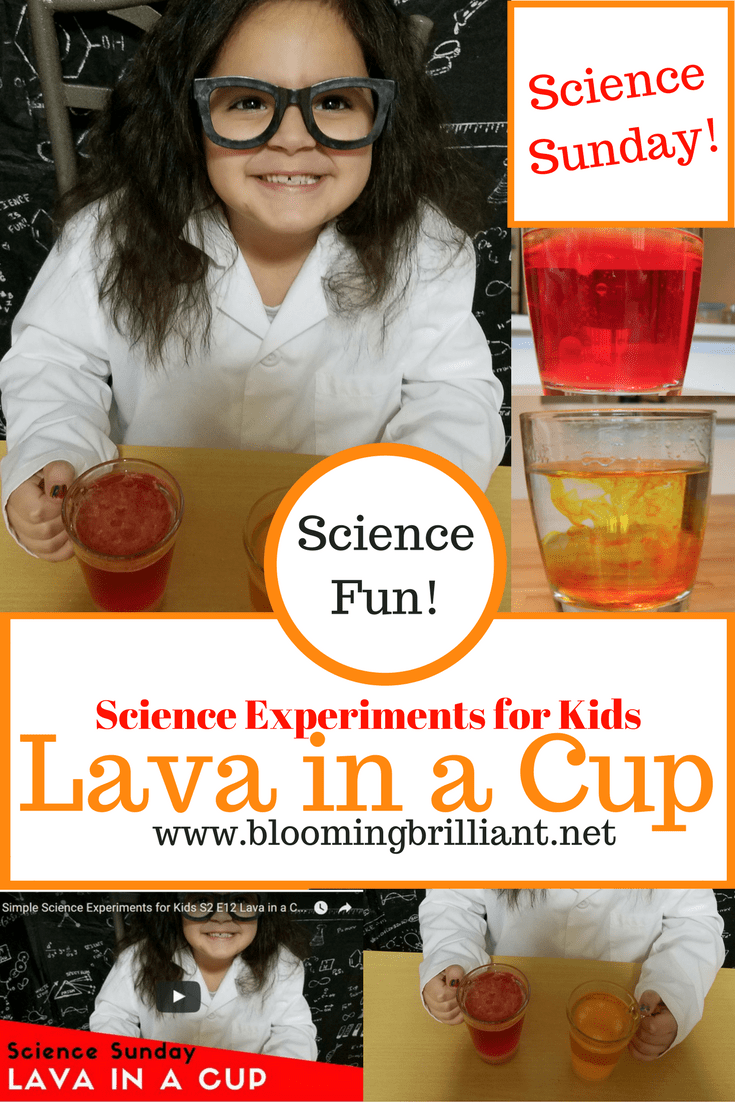 Lava in a Cup is another fun and easy experiment that helps kids learn about density!