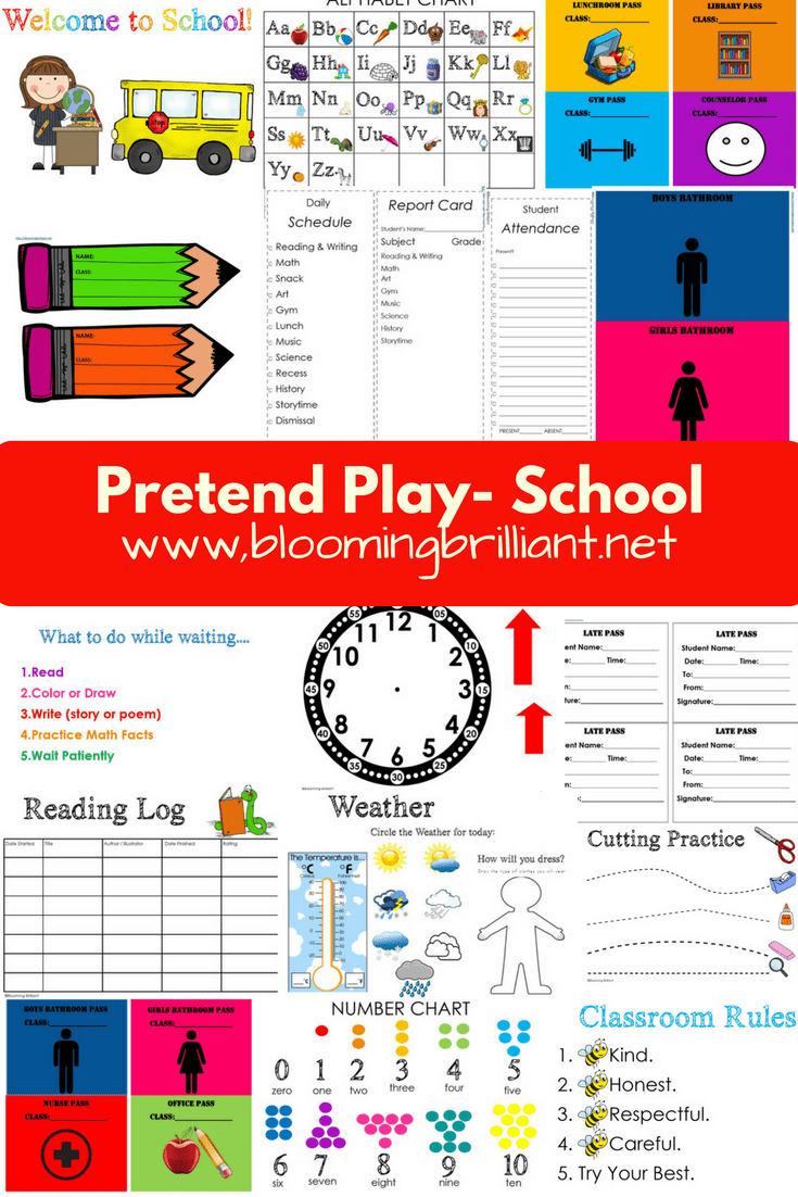Pretend Play School Set