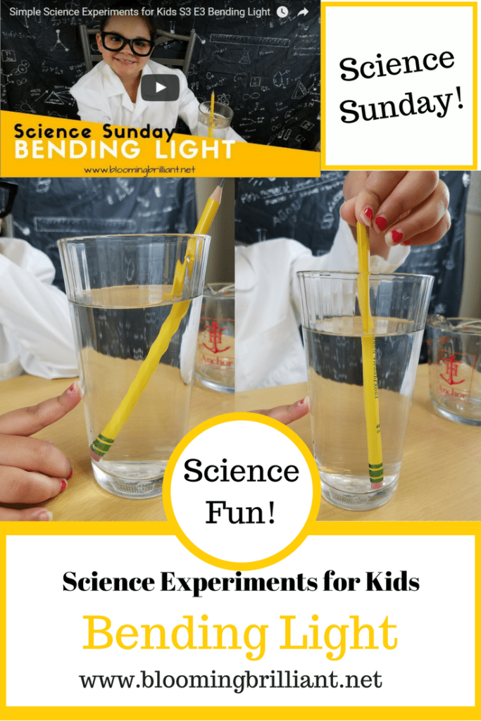 Explore how light bends in another Super Simple Experiment for Children. Your kids will love this super simple and fun experiment of Bending Light.
