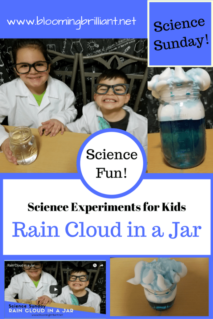 Science Sunday Explore Rain Cloud in a Jar in another Super Simple Experiment for Children. Your kids will love this Rain Cloud in a Jar.