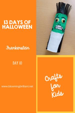 Crafts for Kids- Halloween Frankenstein Craft! Looking for a fun Halloween Craft for your kids? This Halloween Frankenstein Craft is so adorable and fun! #CraftsforKids