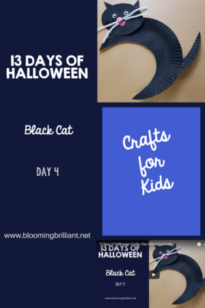 Crafts for Kids- Halloween Black Cat Craft! Looking for a fun Halloween Craft for your kids? This Halloween Black Cat Craft is both so simple and fun! #Craftsforkids