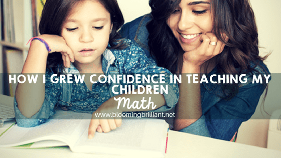 How I grew confidence in teaching my children math