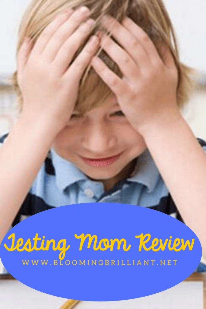 Pinterest Pin Review of Testing Mom program to help kids perform better on standardized tests.