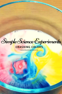 Explore surface tension and how molecules work in Crashing Colors, another simple and fun experiment for kids. This experiment is aka Magic Milk.