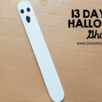 Halloween Ghost Bookmark Craft