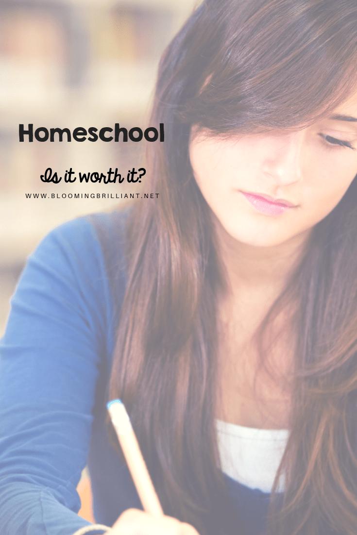 Homeschool is it worth it?