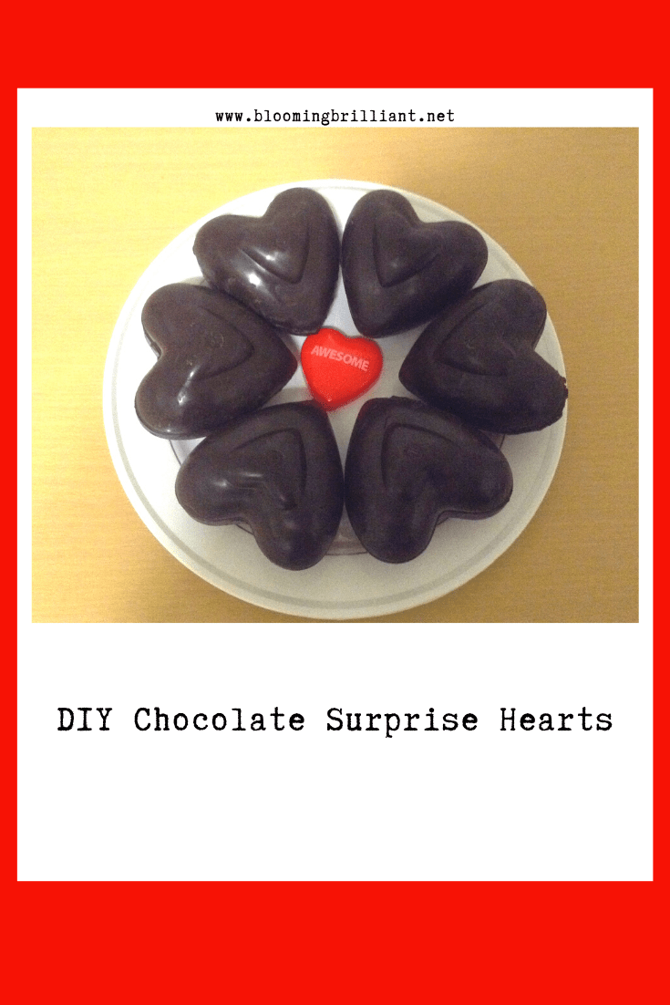 Pinterest Pin DIY Chocolate Surprise Hearts