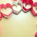 Paper Heart Chain Craft
