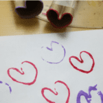 Paper Roll Heart Stamp