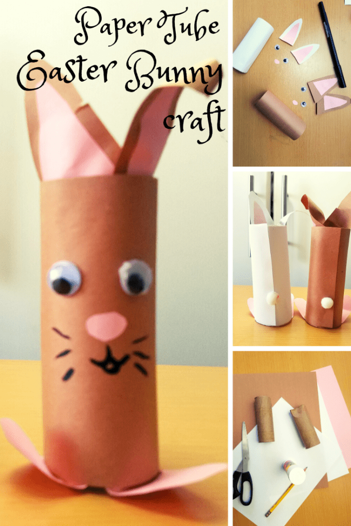 Pinterest Pin Paper Tube Easter Bunnies Craft