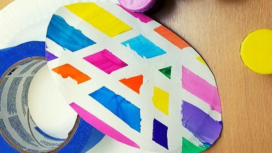 Blog Banner Tape Resist Easter Egg Craft