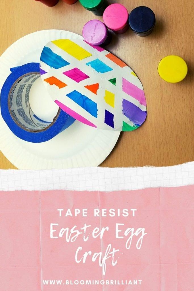 Pinterest Pin Tape Resist Easter Egg Craft