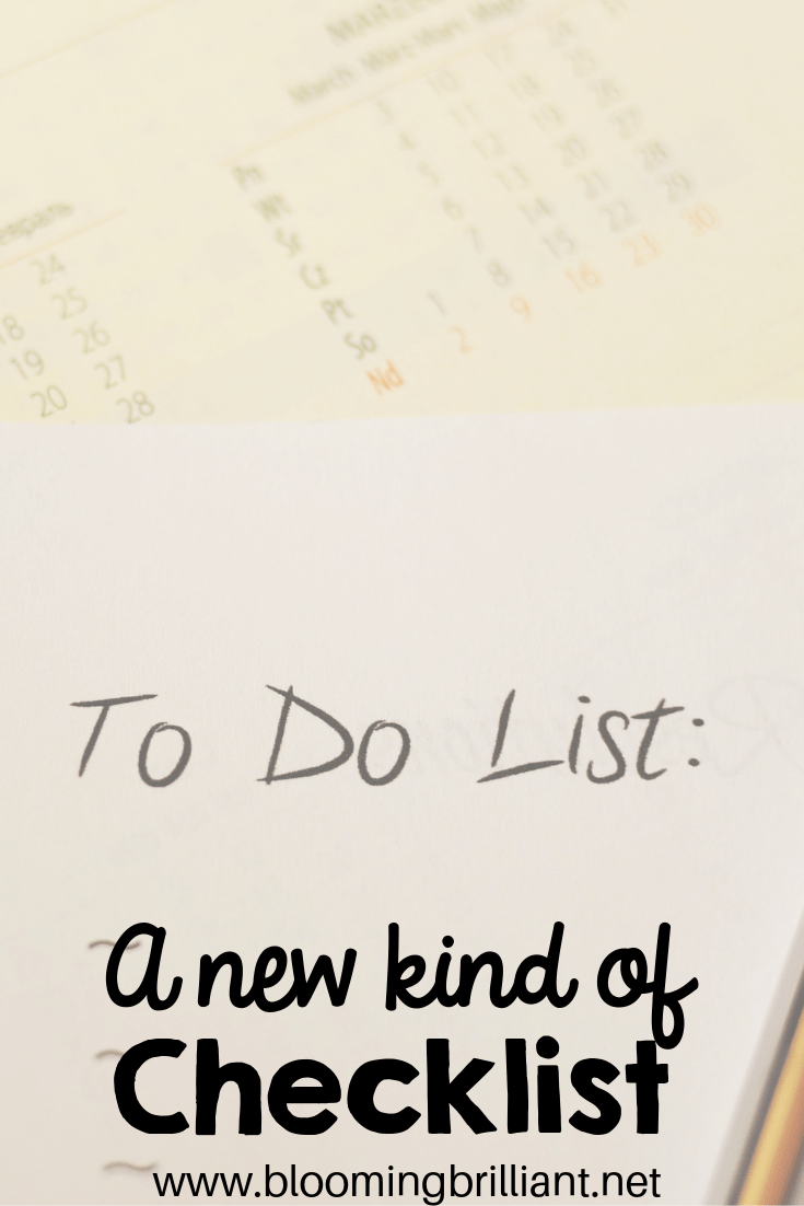 A New Kind of Checklist