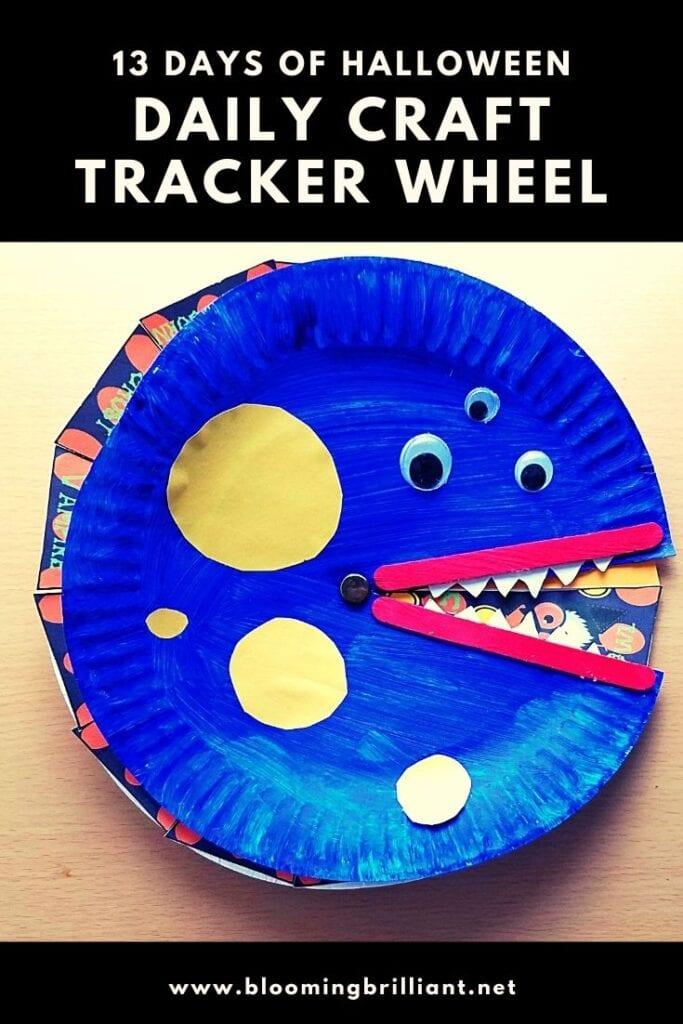 Pinterest Pin Halloween Daily Craft Tracker Wheel