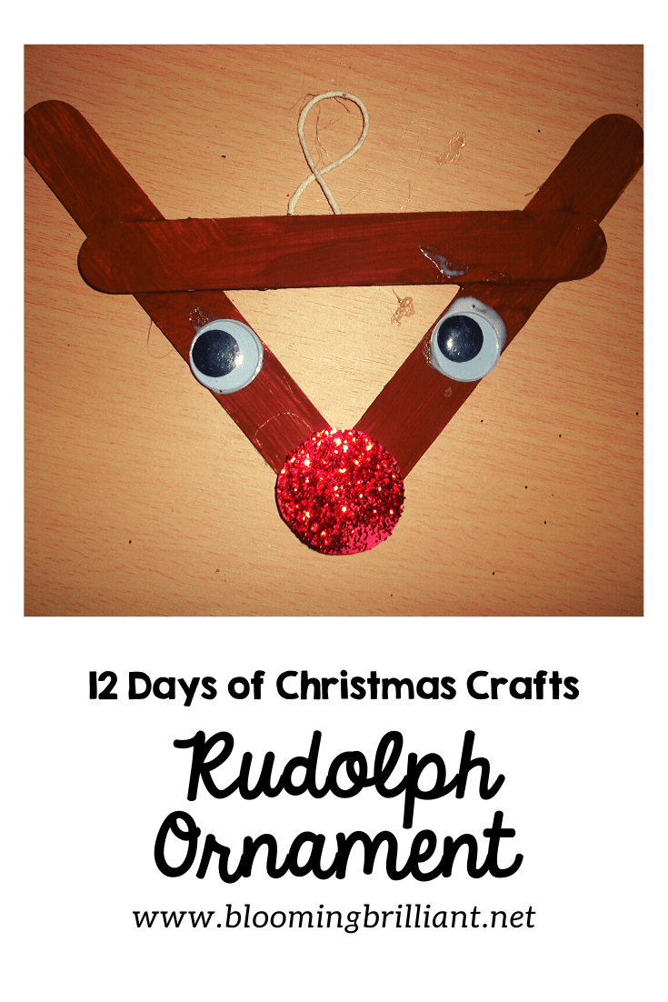 Rudolph Ornament Craft for Kids
