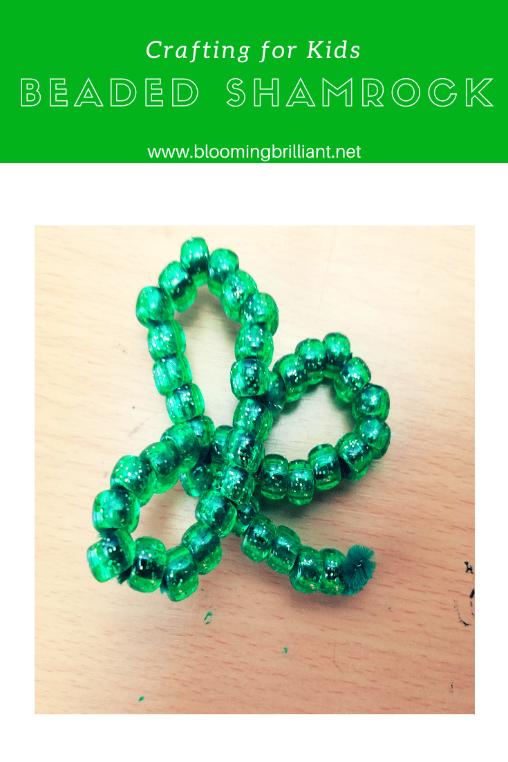 Pinterest Pin This beaded shamrock craft because it helps develop fine motor skills and hand strength.