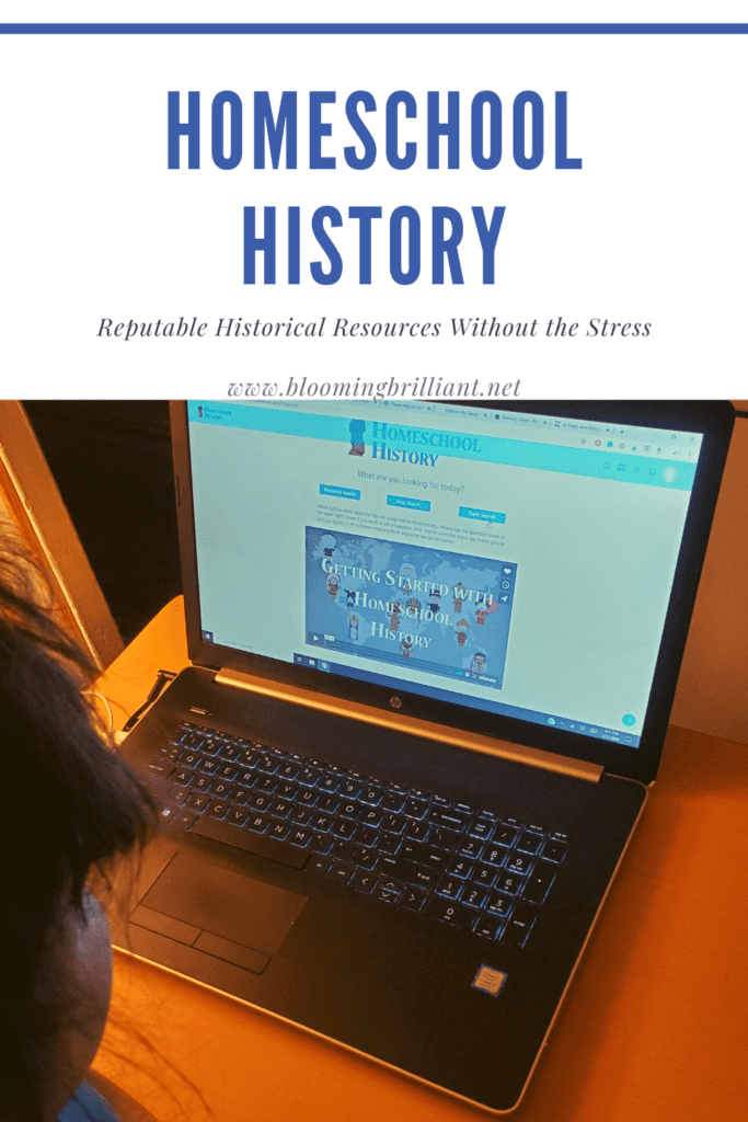 Pinterest Pin Homeschool History without the Stress