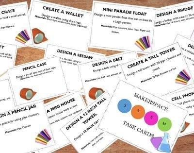 Using Makerspace Task Cards in Your Homeschool