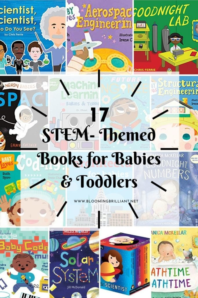 Pinterest Pin  STEM Books for Babies and Toddlers