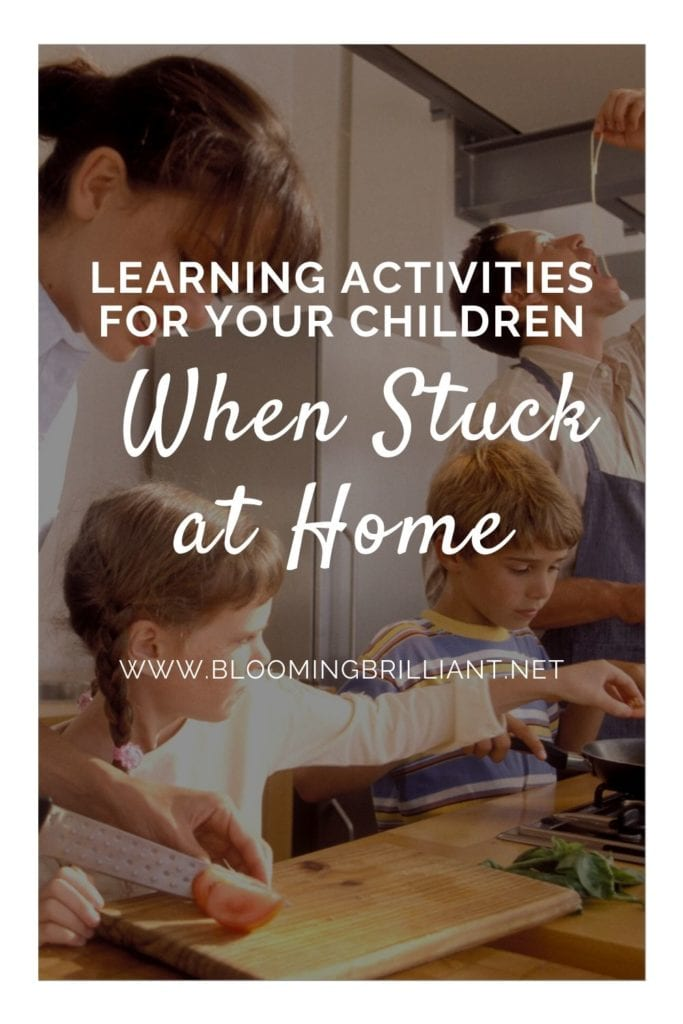 Pinterest Pin  Learning Activities for Your Children When Stuck at Home
