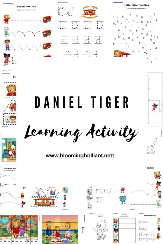 Pinterest Pin Daniel Tiger Learning Activity