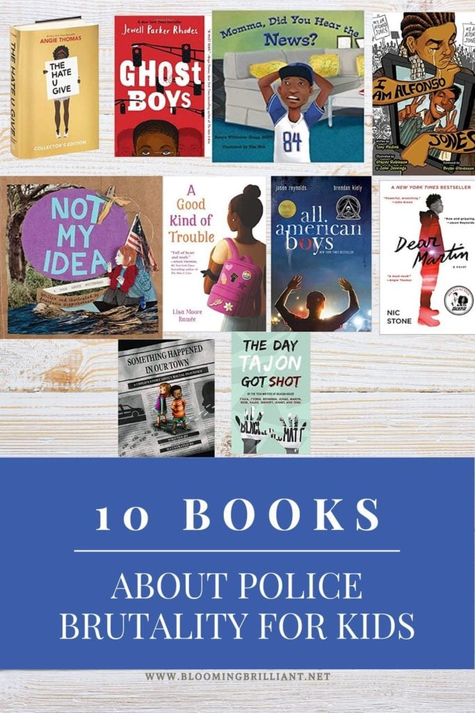 Pinterest Pin 10 Books about Police Brutality for Kids