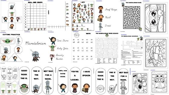 Blog Banner Baby Yoda Learning Activity Pack