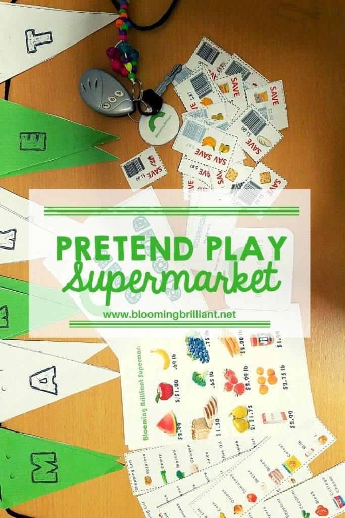 Pinterest Pin Pretend Play Supermarket