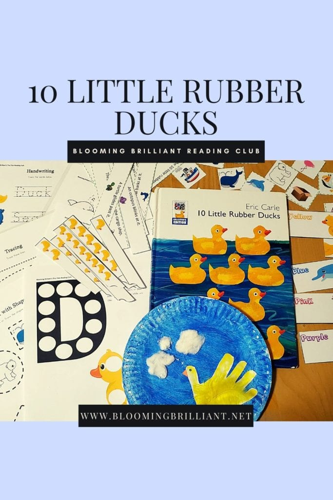 Pinterest Pin 10 Little Rubber Ducks Reading Extension Activity and Craft