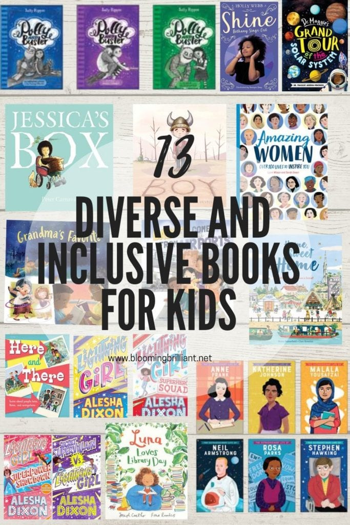 Pinterest Pin Diverse and Inclusive Books For Kids