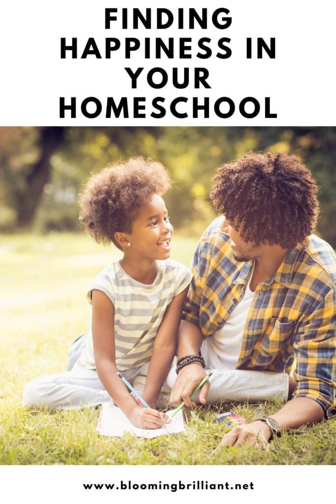 Pinterest Pin  Finding Happiness in Your Homeschool