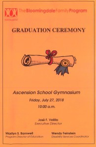Graduation Program Cover
