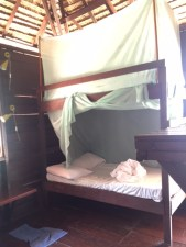 One of the two bunk beds in our room