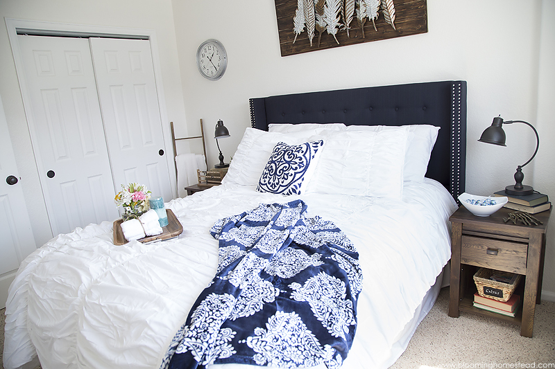 Modern Farmhouse Guest Bedroom Makeover