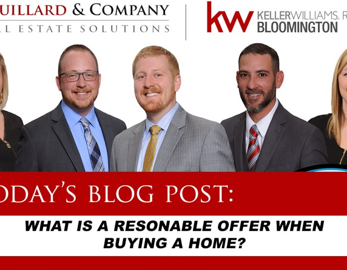 Couillard's Corner – What is a Reasonable Offer When Buying a Home?
