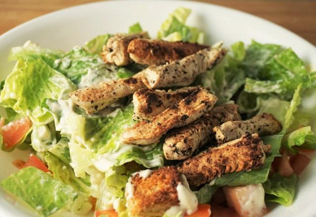 Vegan Chick'n Caesar Salad | Blooming Vegan