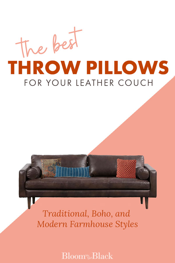 best throw pillows for a leather couch