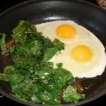 sauteed eggs-kale-breakfast