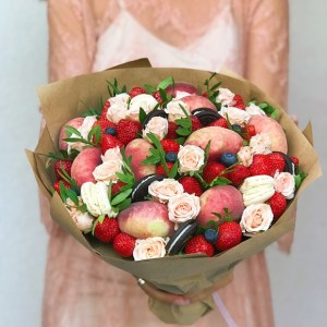bouquet de fruits peches