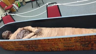 Ellen McHenry's Basement Workshop- mummy exhibit, and others