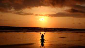 where to focus while meditating sunset picture
